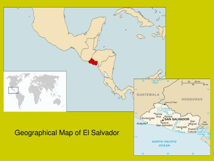 Geographical Map of El Salvador