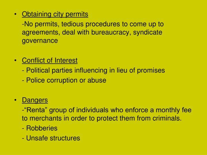 Obtaining city permits
