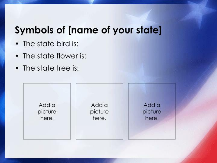 Symbols of name of your state