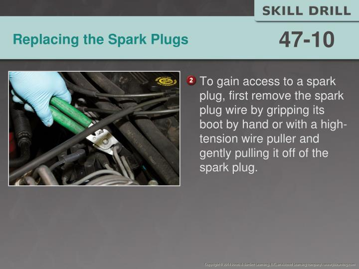 Replacing the Spark Plugs