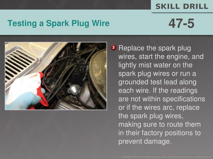 Testing a Spark Plug Wire