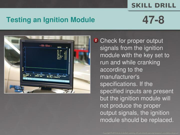 Testing an Ignition Module