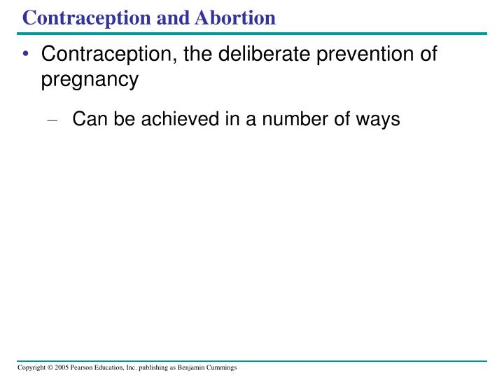 Contraception and Abortion