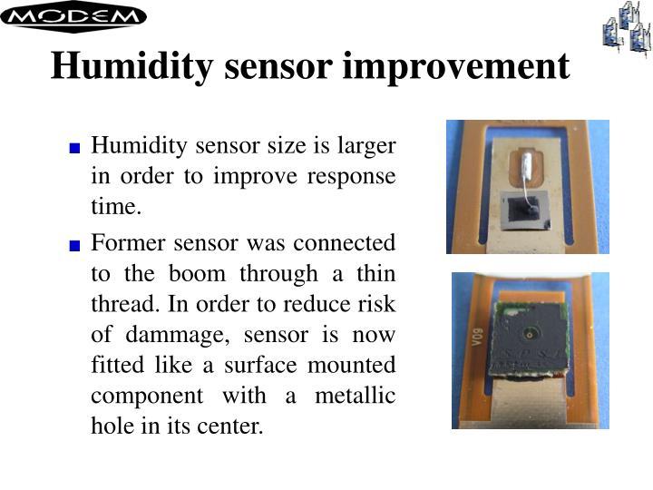 Humidity sensor improvement