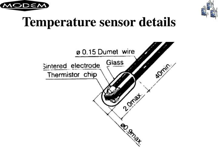 Temperature sensor details