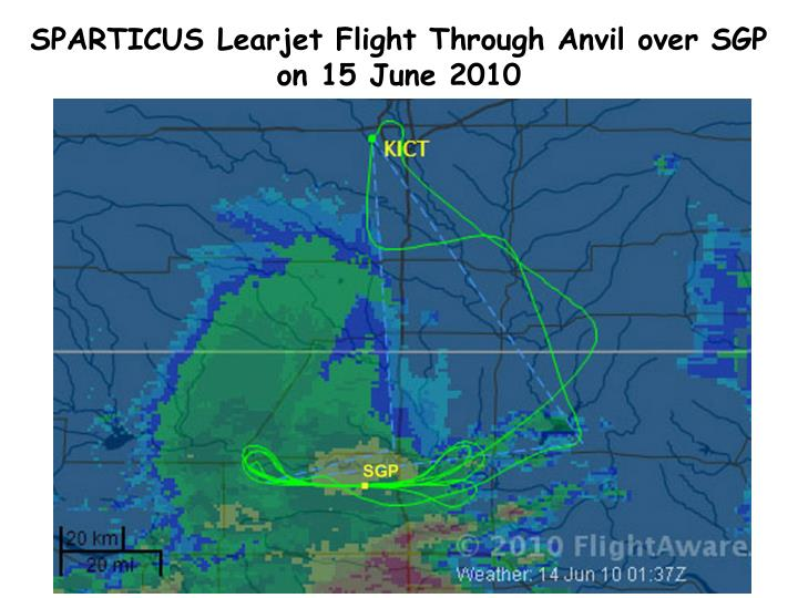 SPARTICUS Learjet Flight Through Anvil over SGP