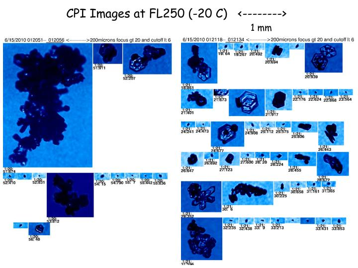 CPI Images at FL250 (-20 C)