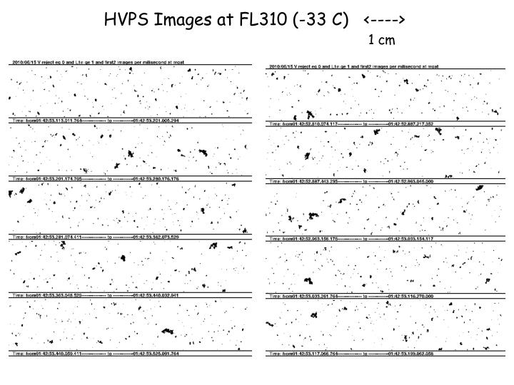 HVPS Images at FL310 (-33 C)