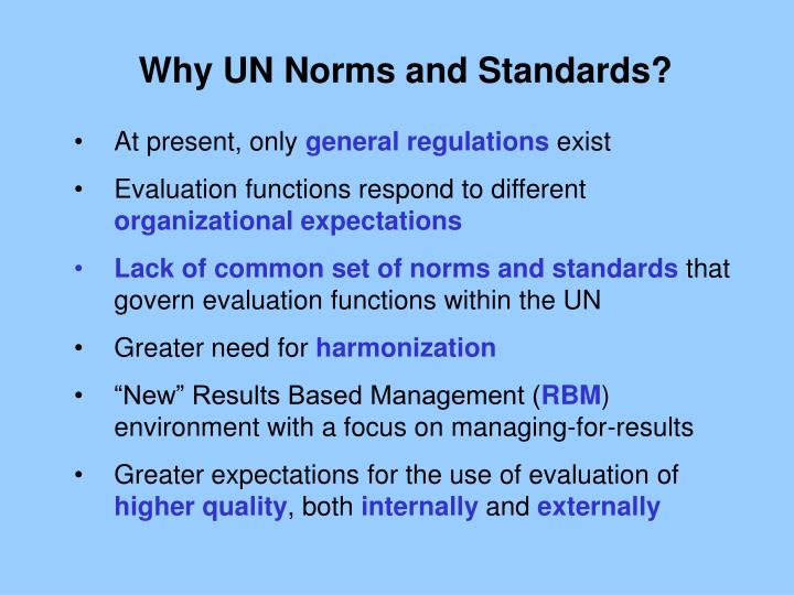 Why UN Norms and Standards?