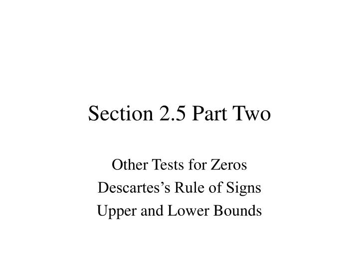 Section 2 5 part two
