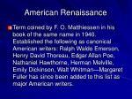 american renaissance