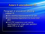 annex 6 amendment 29