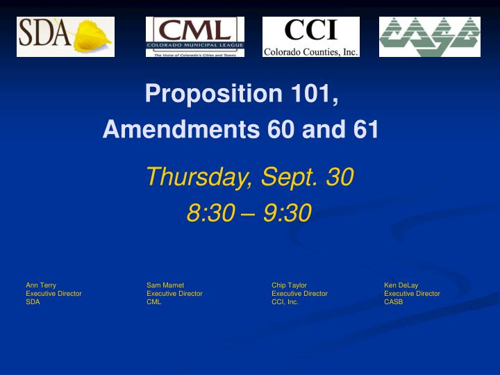 proposition 101 amendments 60 and 61 n.