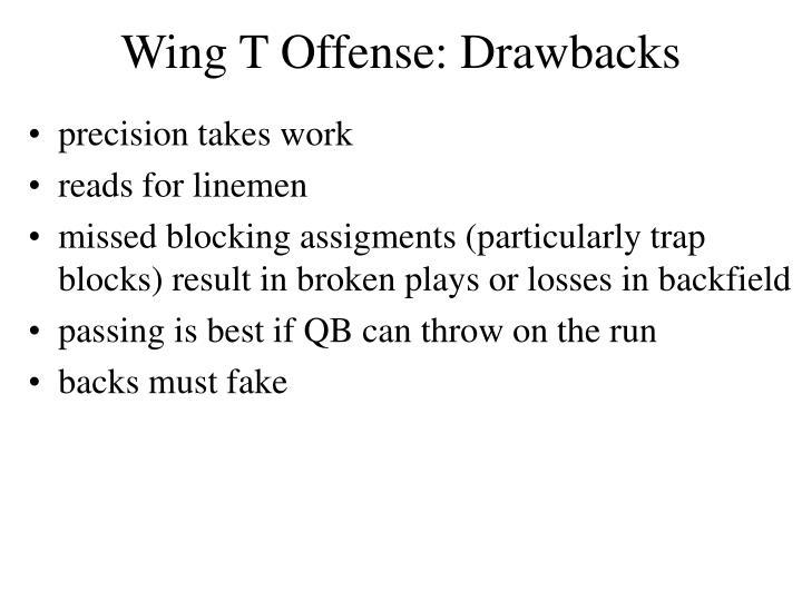 Wing t offense drawbacks