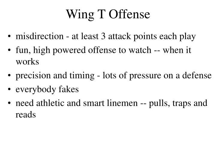 Wing t offense