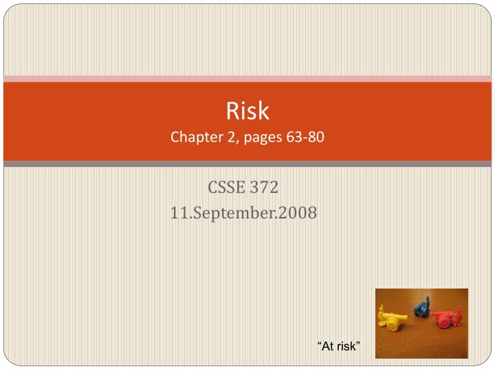 risk chapter 2 pages 63 80 n.