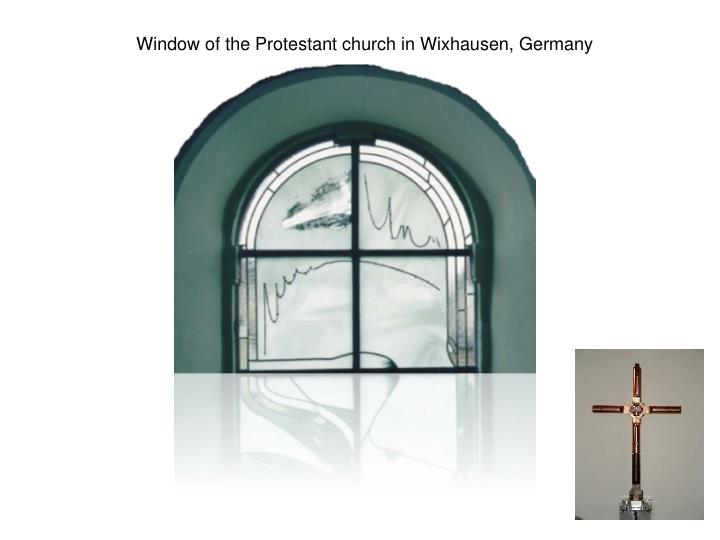 Window of the Protestant church in Wixhausen, Germany