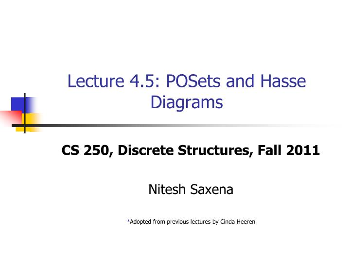 Lecture 4 5 posets and hasse diagrams
