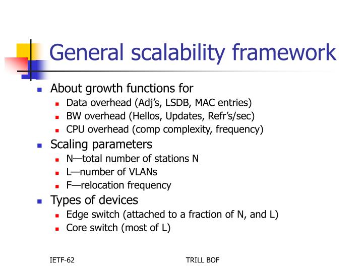 General scalability framework