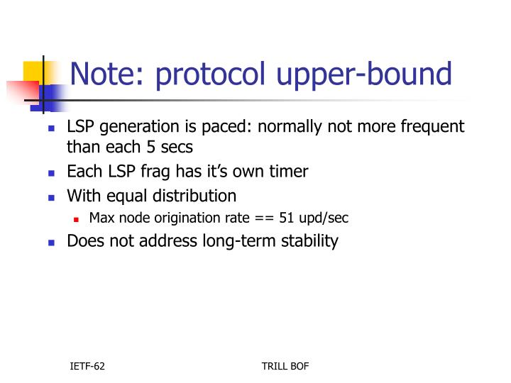 Note: protocol upper-bound