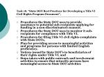 task 18 state dot best practices for developing a title vi civil rights program document