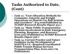 tasks authorized to date cont1