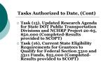 tasks authorized to date cont2