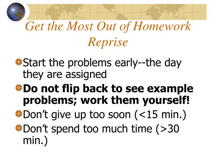 Get the Most Out of Homework