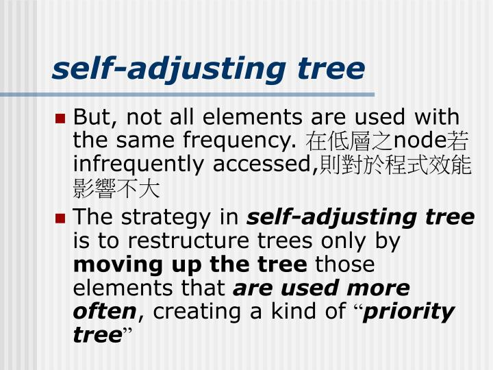 self-adjusting tree