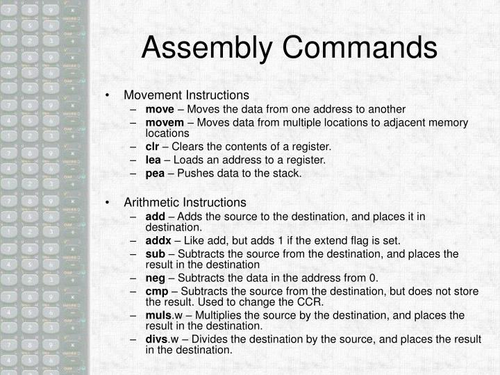 Assembly Commands