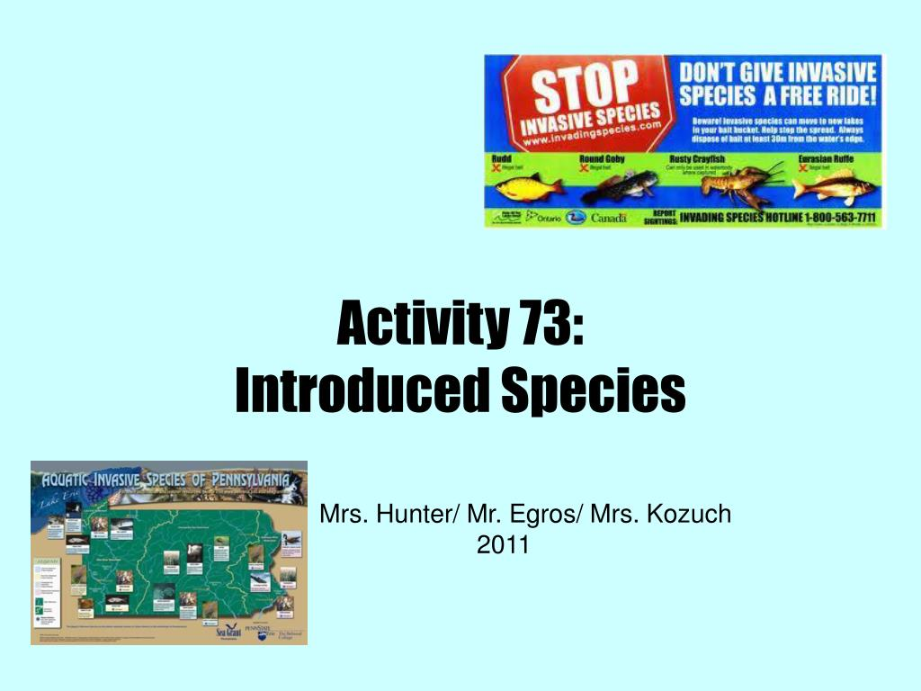 PPT - Activity 73: Introduced Species PowerPoint