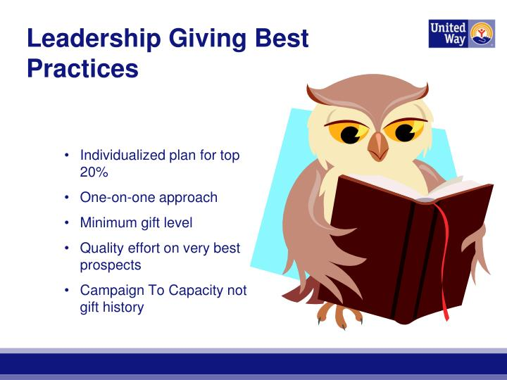 Leadership Giving Best Practices