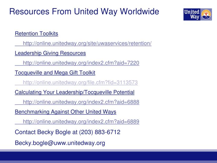 Resources From United Way Worldwide