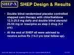 shep design results