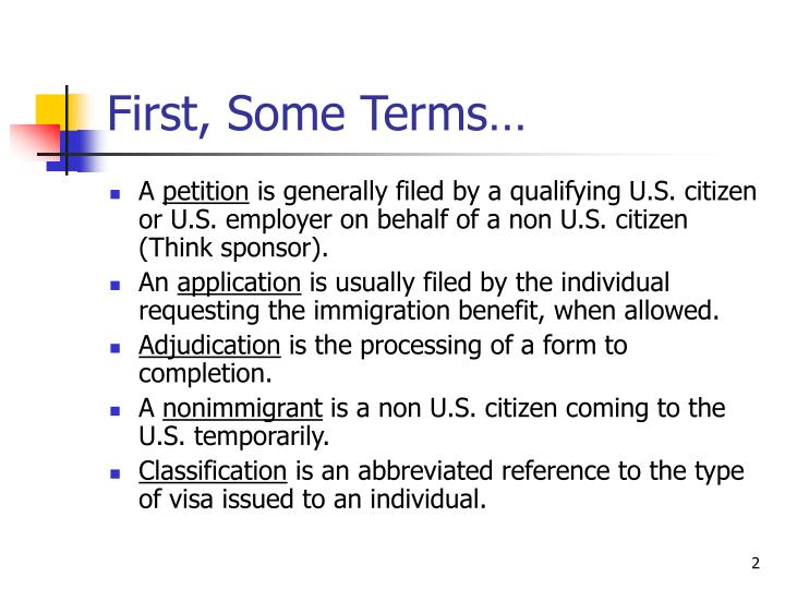 First some terms