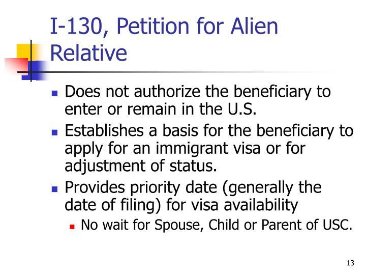 I-130, Petition for Alien Relative