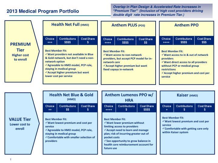 2013 medical program portfolio