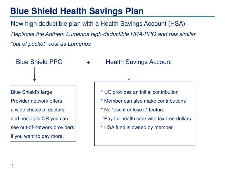 Blue Shield Health Savings Plan