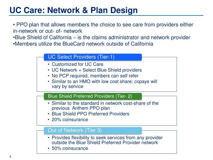 UC Care: Network & Plan Design