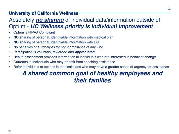 University of California Wellness