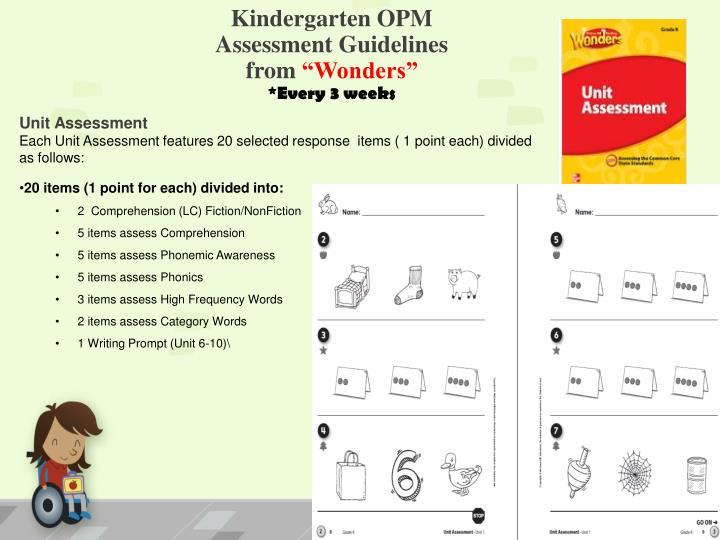 Kindergarten OPM