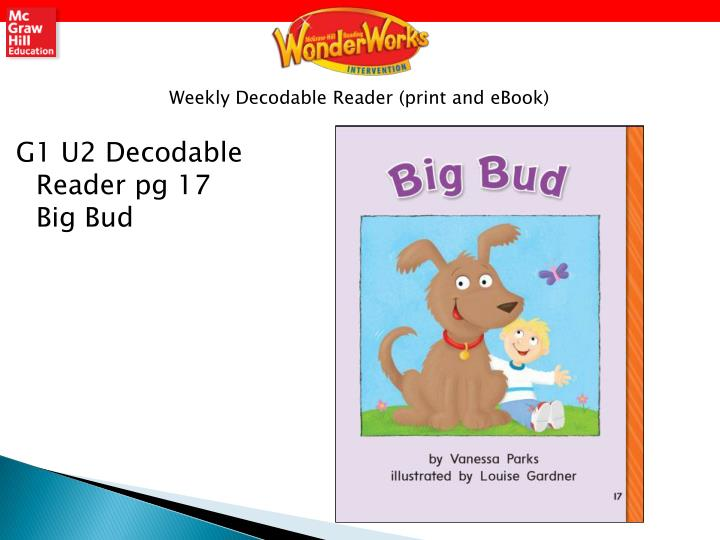 Weekly Decodable Reader (print and eBook)