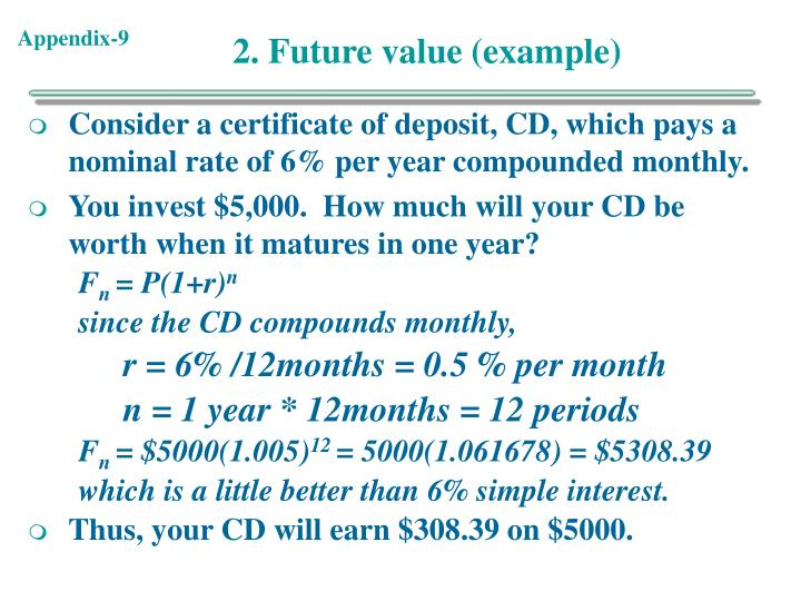 2. Future value (example)