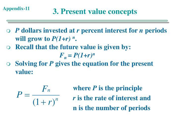 3. Present value concepts