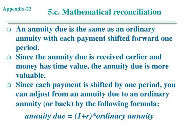 5.c. Mathematical reconciliation