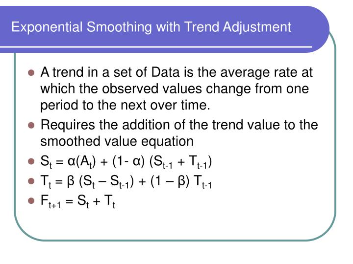 Exponential Smoothing with Trend Adjustment