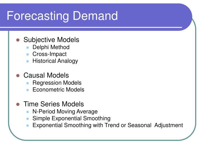 Forecasting demand1