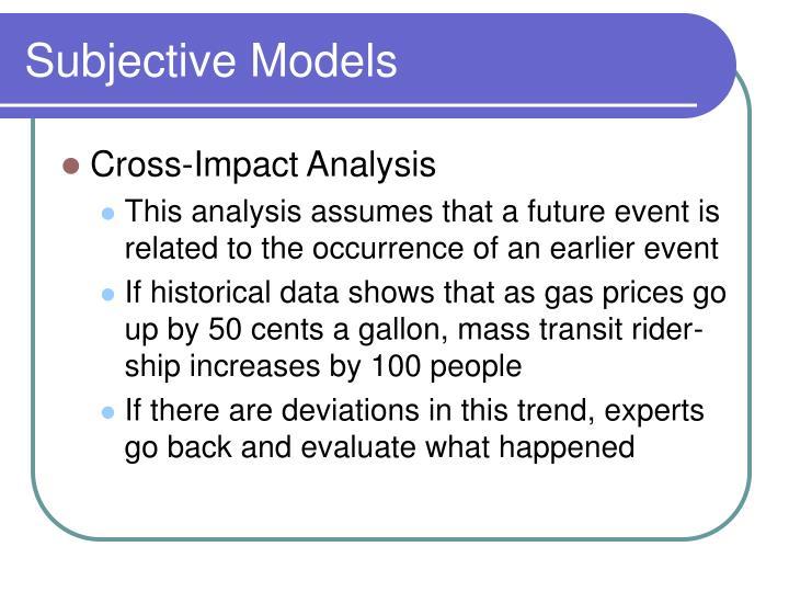 Subjective Models