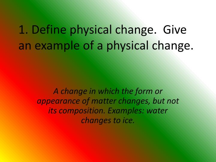 Ppt Physical And Chemical Changes Notes Pages 78 87 Powerpoint