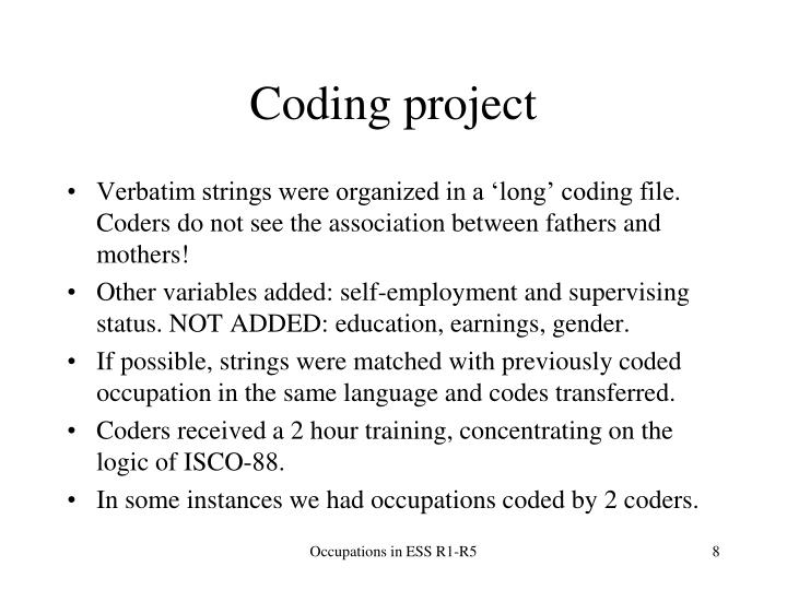 Coding project